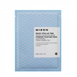 Maska z ZIELONĄ HERBATĄ, nawilżająca - Enjoy Vital-Up Time Watery Moisture Mask with Green Tea Extract