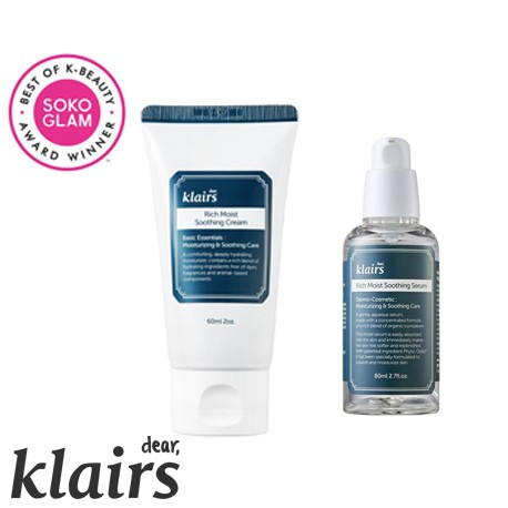 ZESTAW Klairs Rich Moist Soothing (Serum+Cream)