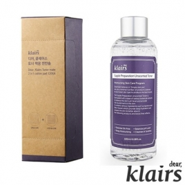ZESTAW Klairs Uncented Toner + Cotton Pad
