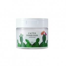 YADAH Cactus Toner Pads, Nawilżające płatki oczyszczające, 60 szt