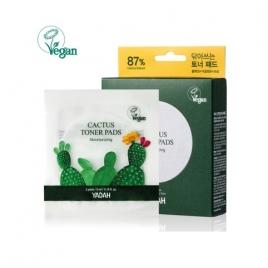 YADAH Cactus Toner Pads, Nawilżające płatki oczyszczające 2szt