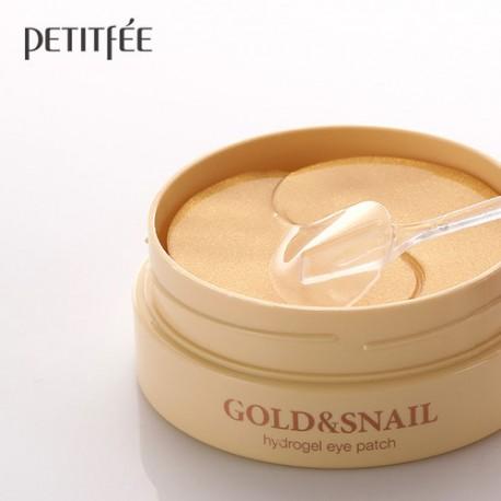 Petitfee Gold & Snail Eye Patch - Hydrożelowe płatki pod oczy 60szt.